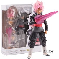 Wholesale toys roses resale online - Shf S h figuarts Dragon Ball Super Super Saiyan Rose Goku Black Zamasu Pvc Gokou Black Figure Collectible Model Toy cm J190508
