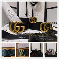 ceintures homme s g achat en gros de-2018 Ceinture de haute qualité pour hommes en cuir véritable designer G boucle ceintures ceintures de luxe pour hommes femmes mode boucle ardillon