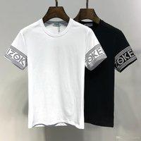 neue stil hemden qualität großhandel-Kurzarm-T-Shirts der neuen Art-beiläufigen Männer Qualitäts-Baumwollhülse hat gestreiftes Normallack Mens Tees 2019 Sommer-Mode-T-Shirt