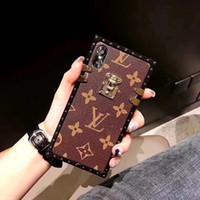 corda galáxia venda por atacado-Designer de luxo moda telefone casos de couro pu com cordão para o iphone xs max case para samsung galaxy s7 edge case livre dhl
