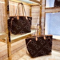 Wholesale waterproof shopping tote resale online - NEVER FULL MM GM High Top Quality Fashion Iconic Womens Shopping Baby Bag Outdoor Beach Tote Shoulder Bag Brown Waterproof Canvas M40995 PM