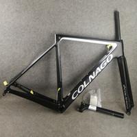 Wholesale colnago carbon road bike frames resale online - T1100 UD Colnago V3Rs Disc carbon road bike frames Newest Bicycle Disk Frameset with cm