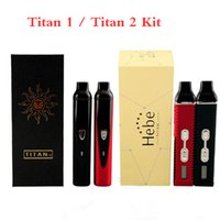 Wholesale temperature control lcd for sale - Group buy In Stock Hebe Titan Vaporizer kit Titan Dry Herb Vaporizer starter kits with mah Battery Temperature Control Systerm LCD Screen Vape