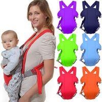 Wholesale backpack carry resale online - 6 Colors Babies Safety Carrier Adjustable Infant Sling Newborn Front Facing Belt Four Position Lap Strap Backpack Wrap M1713