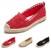 zapatillas oxford venda por atacado-Bayan ayakkabi zapatos oxford sapatos para mulheres Mulheres Senhoras Sola Oco Floral Rendas Tornozelo Lona Plana Dedo Do Pé Redondo Sapatos Casuais # 4gh