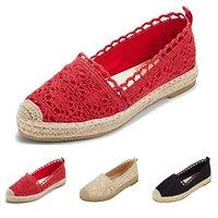 ingrosso zapatos oxford donne-Bayan ayakkabi zapatos oxford scarpe per donna Donna Sole Suola cava floreale pizzo caviglia piatta tela punta rotonda scarpe casual # 4gh
