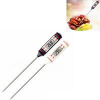 termômetros lcd venda por atacado-Termômetro de Carne digital de Grau Alimentício LCD Habor BBQ Hold Função para Cozinha ferramenta de Cozinha Grelha de Alimentos PARA CHURRASCO Carne Carne Doce Leite Água FFA2834