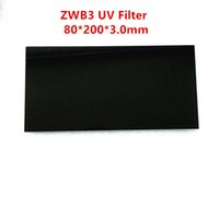 Wholesale biochemical filter resale online - 80x200x3 mm SW nm UV Pass Filter ZWB3 UG5 U C for Mineral Fluorescence Lamp Biochemical Analyzer