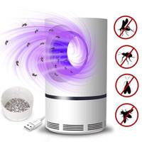 sivrisinek katili toptan satış-LED Fotokatalist Sivrisinek Katili Lambası USB Powered Böcek Killer Toksik Olmayan UV Koruma Sessiz Hamile Kadınlar ve Bebekler için Uygun