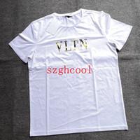 Wholesale pure white t shirt online - 19SS The New Pure Cotton Short Sleeve Mens T Shirts Designer Shirts Men Hot Seller Multi size Designer Men s T Shirts