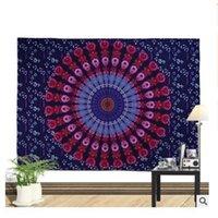 ingrosso decorazione domestica della boemia-Indiano Mandala Tapestry Wall Hanging Poliestere 150 * 130 cm copriletto Bohemian Tiro Coperta Dorm Yoga Mat Decorazione Della Casa 68 stili