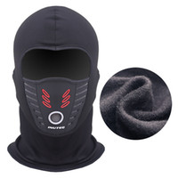 motorcycle fleece mask groihandel-Sommer-Winter-warme Motorrad-Winddichtes Gesichtsmaske Motocross Full Face Cs Außen Warm Fahrrad Thermal Fleece Balaclava Neue Maske maskiert
