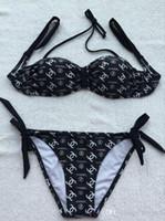 kızlar bikini dipleri toptan satış-En iyi selling2018Must-Markalı Kadınlar Seksi Bikini Mayo Set Moda Kız Beachwear Üçgen Üst Alt Bandaj Mayo Boyutu M-L-XL