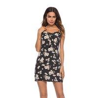mini seksi parti elbiseleri çevrimiçi toptan satış-Seksi Elbiseler 2019 Yaz Robe Pin Up Bayanlar Parti Online Alışveriş Giysi Tunik Yaz Sundresses Plaj Spagetti Kayışı Siyah