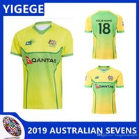 6424785ebe4 AUSTRALIAN SEVENS 2019 PRIMARY JERSEY 2018 AUSTRALIA WALLABIES JERSEY  Australia rugby jerseys 2018 Australia jersey size S-3XL (can print)
