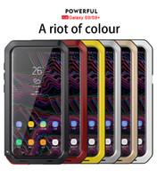 galaksi s5 goril camı toptan satış-Samsung Galaxy S3 için S4 S5 S10 S10e S9 S8 Artı Lite Not 8 9 Darbeye Su Geçirmez Güç Alüminyum Gorilla Glass Telefon Kapak Koruyun
