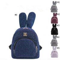 Wholesale backpacks for travel for sale - Group buy Women Sequins Backpack Girls Fashion Cute Rabbit Ears Mini School Bags for Teenage Girls Travel Bag MMA1363