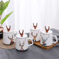 Wholesale halloween ceramic houses for sale - Group buy Creative Phnom Penh Ceramic Couple Cup European Marbled Mug Office Coffee Cup Couple Pair Cup Drinkware Cute MR MRS Moose Wedding Favors