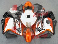 turuncu beyaz hayabusa toptan satış-Yeni ABS motosiklet bisiklet Fairings Kitleri Için Fit SUZUKI Hayabusa GSX1300R 1997-2007 GSX 1300R 97 98 99 00 01 02 07 marangozluk güzel Turuncu beyaz