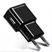 ingrosso eu plug mela-Caricabatterie USB rapido da viaggio per caricabatterie USB universale da 2A con caricabatterie USB universale per iPhone Huawei LG Xiaomi HTC Telefono Android