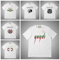 hip hop maskeli adam toptan satış-GUCCI Lüks Erkek Tasarımcı T Shirt Erkek Kadın Maske Yaz T Gömlek Hip Hop Beyaz Pembe Gri Kısa Kollu Polo S-2XL