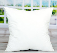 Wholesale cotton pillow cases resale online - 45 cm Sublimation Square Pillowcases DIY Blank Pillowcase Pillow Cover for Heat Transfer Sofa Pillow Cases Blank White Throw Pillow A06