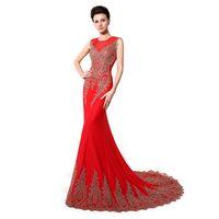 ingrosso abiti eleganti neri rossi-XU028 2020 Abiti da spettacolo eleganti Sirena a buon mercato Rosso Nero Bianco Verde Menta Borgogna Abiti da sera lunghi da ballo Abiti da festa