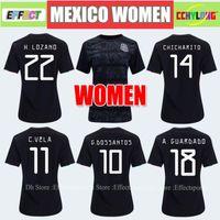 18a3ecd6f Women Jersey 2019 Mexico Home Black Soccer Jerseys Gold Cup Girl 19 20 COPA  AMERICA CHICHARITO Camisetas de futbol LOZANO VELA RAUL Shirts