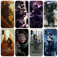 Wholesale iphone six for sale – best TongTrade Rainbow Six Siege Operation Case For iPhone s s Plus Pro Max X XS Samsung A40s A50s Huawei Nova Redmi Silicone Case
