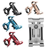 Wholesale motorcycle phone holder cradle online – Mountain Bicycle MTB Aluminum Alloy Phone Holder Motorcycle Cellphone Handlebar Mount Cradle Adjustable Non Rotatable