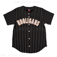 Wholesale black jersey yellow stripes for sale - Group buy Bruno Mars K Hooligans Baseball Jersey Yellow Red Pink Purple Black White Blue Green Stripe All Stiched For Men Women Youth