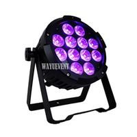estágio conduzido da bateria venda por atacado-LED de Iluminação de Palco 12X18 W RGBWA UV 6in1 Alimentado Por Bateria LED sem fio uplights Recarregar Massa Par LEVOU para o Casamento