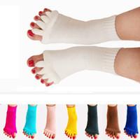 ingrosso piede di yoga-Calzini da massaggio Yoga Calzini da cinque dita Correzione da pollice Eversion Calzini da fitness Sport calze da uomo traspirante RRA1592
