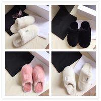 Wholesale winter indoor slippers men resale online - Designer C Women Men Furry Slippers Unisex Fur One Sandals Winter Warm Wool Boots Shoes Home Indoor Outdoor Warm Fur Slide Slipper C72907