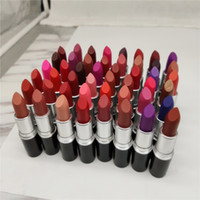 Wholesale english matte lipstick resale online - 2020 new Matte lipstick Waterproof Velvet Lipstick Sexy Red Brown Pigments Makeup g Lipsticks sweet smell English Name ePacket