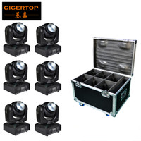 Wholesale prices moving lights resale online - 6IN1 Flightcase Pack Double Side Mini Led Moving Head Light x10w x10w RGBW IN1 Color Cheap Price China Supplier