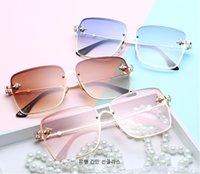 ingrosso occhiali da api-Occhiali da sole alla moda Metal Square Frame Little Bee Occhiali da sole per donna e uomo Occhiali da sole