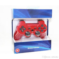 Wholesale wireless controller vibration online - Durable Vibration feedback Support For PS3 Wireless Controller Game Controller Joysticks For PS3 Bluetooth Controller Available Real SixAxis