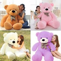 Wholesale valentines day teddy bear gift resale online - Oversized Teddy Bear Stuffed Doll m m m Plush Toy With Bow Tie Gift Children Valentines Day tl D1