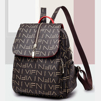 Wholesale grey wool backpack for sale - Group buy Backpacks fashionable joker bags printed letters temperament casual bag