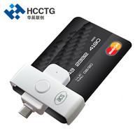 otg fişi toptan satış-Küçük EMV USB Tip C Tak Oyna Otg IC Akıllı Banka Kartı Ödeme Için Akıllı Kart Okuyucu ACR39U-NF