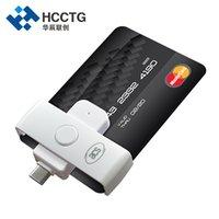 lector inteligente al por mayor-Pequeño EMV USB Tipo C Plug In Play Otg IC Lector de tarjetas inteligentes para pago bancario ACR39U-NF