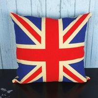 travesseiros de bandeira britânica venda por atacado-roupa de cama de alta qualidade Itália / América / França / Austrália britânico almofada bandeira / travesseiro (não incluindo o enchimento)