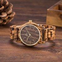 свадебные наручные часы оптовых-UWOOD W3007 деревянные часы мужчины кварцевые бамбуковые зебра деревянные часы роскошные часы мужчины бренд браслет свадебные украшения наручные часы