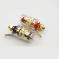Wholesale banana plug terminals for sale - Group buy 8pcs Speaker Soldered Terminal Binding Post Gold Plated mm Connector For mm Banana Plug Jack