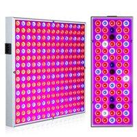 panel ışık led w toptan satış-Fito Lamba Kapalı Bitki Için Büyümek Lamba Bitki 380-780nm Tam Spektrum Büyüyen LED Işık 85-265 V 75 leds 144 leds 25 W 45 W UV IR Panel Lambaları