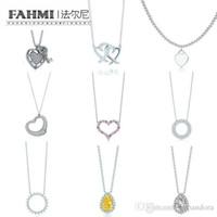 pulseras conmemorativas al por mayor-FAHMI Charm 925 Sterling Silver Love Twinkle incrustaciones de lágrima Zircon collar de sol joyería de moda original de las mujeres Memorial Day TIF
