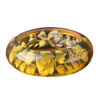 bracelet en cire d'abeille achat en gros de-Bijoux fins Boutique De Mode Jaune Cire D'abeille Bracelet Bracelet Main Caténaire Main Sculpté Fleur Livraison Gratuite