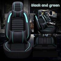 estofamento de couro completo venda por atacado-Seat Covers Universal Fit Car Acessórios Interior Car Set Para Sedan PU Leather Full Surround Projeto Adjuatable Assentos coberturas para veículos