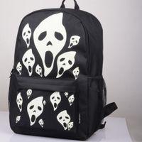 сумки для ноутбука с черепом оптовых-Women Backpack Unisex Student Backpack Skull Bag Interior slot pocket  and Bendy Laptop Plecak